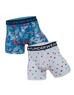 Funderwear Flower Dots 2Pack Boxershorts