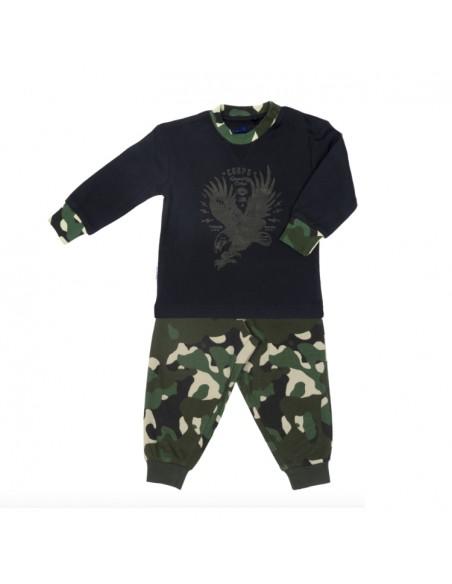 Frogs and Dogs Jongens Pyjama Camouflage Rosin Dusky Green