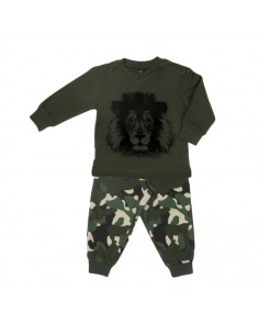 Frogs and Dogs Jongens Pyjama Lion Camouflage Rosin