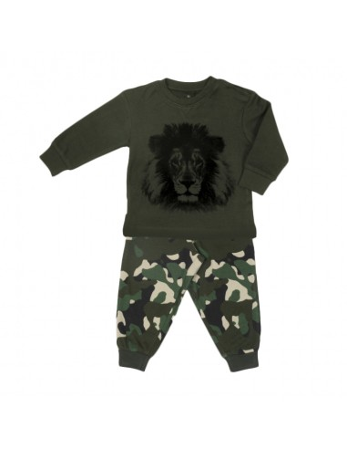 Frogs and Dogs Jongens Pyjama Lion Camouflage Rosin