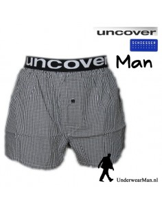 Uncover Woven Boxershort Black Blocks