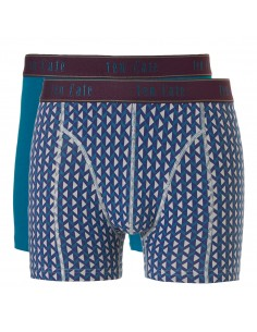 Ten Cate Men Fine Short 2Pack Petrol and Grey Triangles