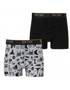 Ten Cate Jongens Boxershort Shapes Black 2Pack 10-18Y