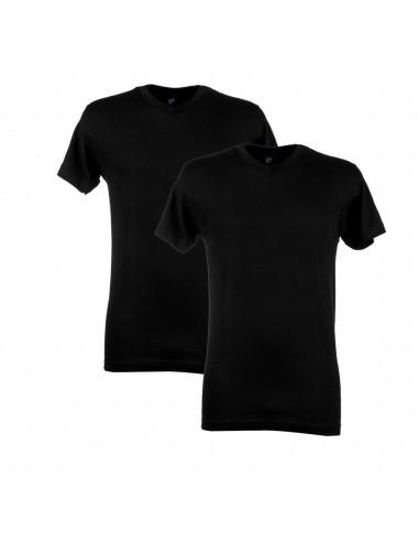 Alan Red V-Shirt West Virginia 2Pack Zwart
