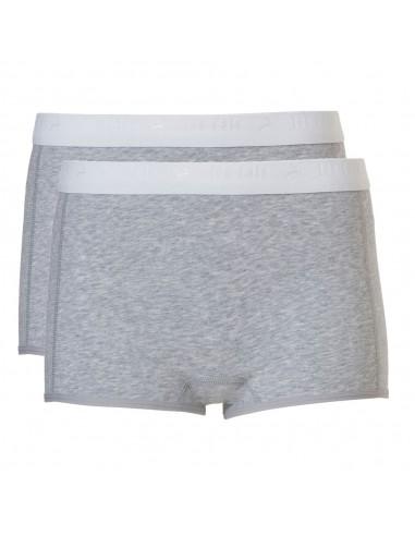 Ten Cate Meisjes Shorts 2Pack Light Grey Melee 10-18Y Teens