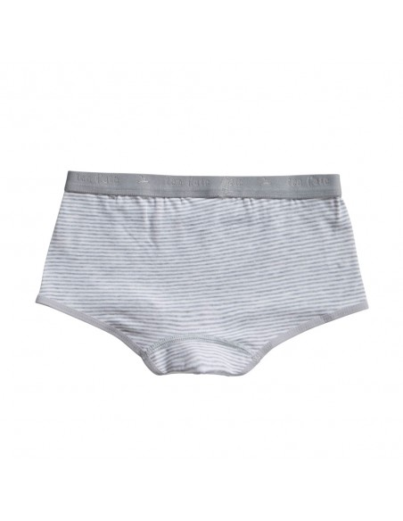 Ten Cate Meisjes Short 2Pack Stripe and Light Grey Melee 2-10Y Girls
