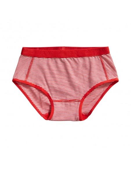 Ten Cate Meisjes Brief Slip 2Pack Stripe and Flame Scarlet 2-10Y Girls