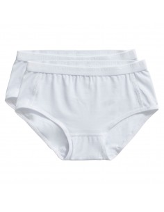 Ten Cate Meisjes Brief Slip 2Pack White 2-10Y Girls