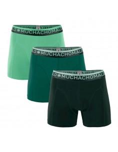 MuchachoMalo Solid 289 Dark Green Mid Green Mint 3Pack Heren Boxershorts