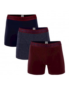 MuchachoMalo Solid 292 Red Melange Blue Dark Blue 3Pack Heren Boxershorts