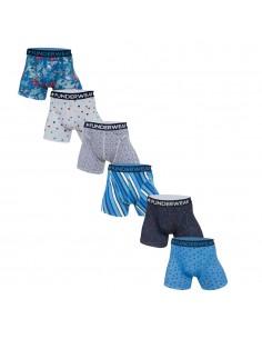 Funderwear Grey Blue 6Pack Boxershorts