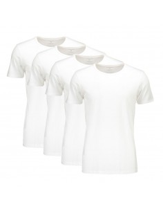 Suaque Long T-Shirt Round Neck 4Pack Wit