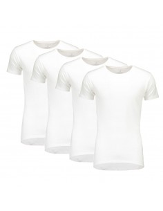 Suaque Long T-Shirt Round Neck Slim-fit 4Pack Wit