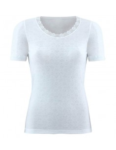 Blackspade Women Thermo T-shirt Short Sleeve Sneeuw Wit