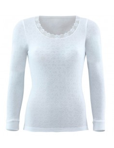 Blackspade Women Thermo T-shirt Long Sleeve Sneeuw Wit