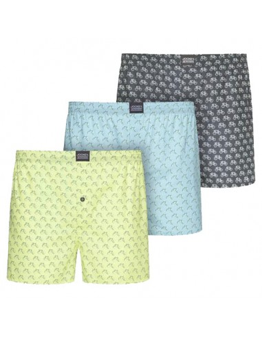 Jockey Boxershort Re-Active Woven 3Pack Dark Iron Viscose