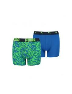 Puma Boxershort Blauw Groen 2Pack Boys