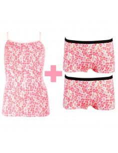 Funderwear Meisjes Set Animal Barely Pink 2Pack