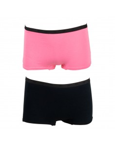 Funderwear Tiener Meisjes Short Sachet Pink Black 2Pack