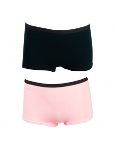 Funderwear Tiener Meisjes Short Barely Pink Black 2Pack