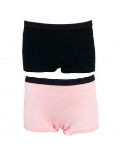 Funderwear Meisjes Short Barely Pink Black 2Pack