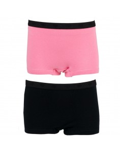 Funderwear Meisjes Short Sachet Pink Black 2Pack