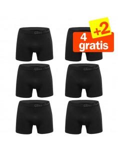 Gino Santi Super Aanbieding Strakke boxer 6 pak 5+1 Gratis Zwart