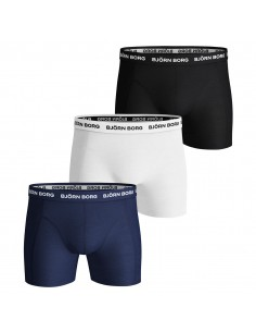 Björn Borg Boxershorts 3Pack SOLID Blue Depths