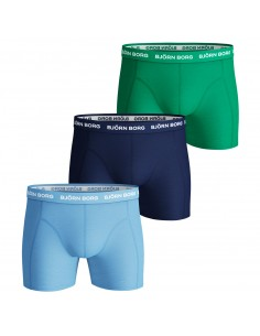 Bjorn Borg Boxershorts 3Pack SAMMY SEASONAL SOLIDS Placid Blue