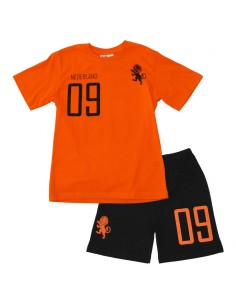 Fun2wear Shortama Elftal Oranje Zwart