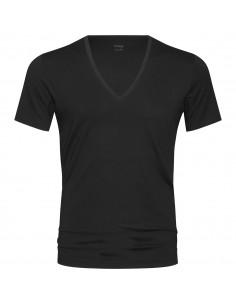 MEY Heren V-neck Zwart Dry Cotton Het Eronderhemd Business Shirt 46038