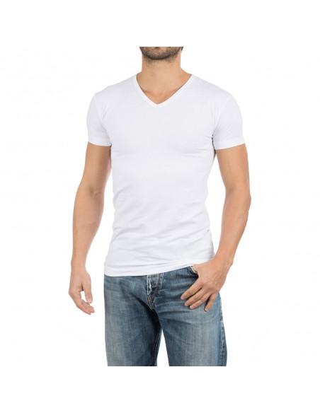 Alan Red V-Shirt Oklahoma 4Pack Wit