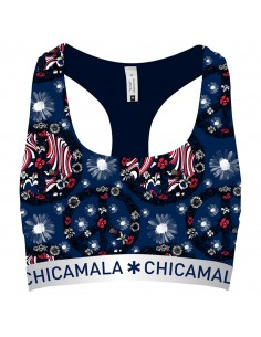 MuchachoMalo FLower Power Racerback Top Dames Ondergoed