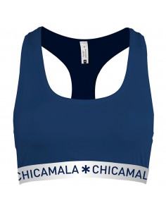 MuchachoMaloFlower Power Navy Racerback Top Dames Ondergoed