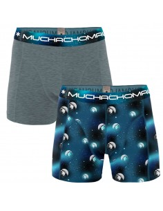 MuchachoMalo 2Pack MAN ON THE MOON Jongens Boxershorts