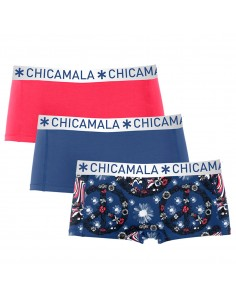 ChicaMala 3Pack FLOWER POWER Short Meisjes
