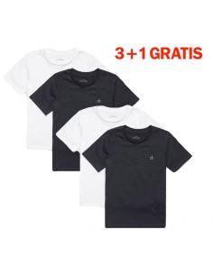 Calvin Klein Modern Cotton T-Shirts 4Pack 3+1 gratis Zwart-Wit Jongens Ondergoed
