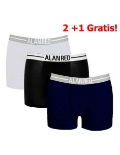 Alan Red Boxershort Lasting 3Pack Black Navy White 2+1 Gratis