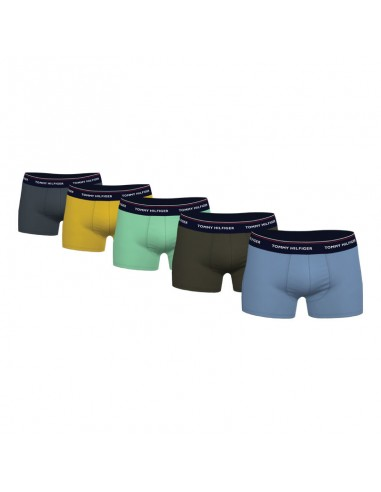 Tommy Hilfiger Ondergoed 5Pack Trunk Blauw Geel Groen