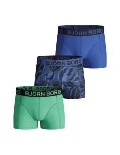 Bjorn Borg 3Pack Boys BB SAMMY Shorts LEAFY Federal Blue