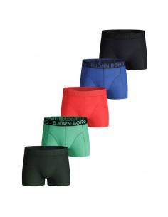 Bjorn Borg 5Pack Boys BB SAMMY Shorts Solid Ultramarine
