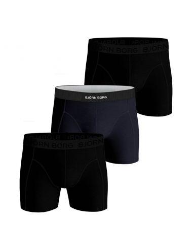 Bjorn Borg Boxershorts 3Pack Sammy Shorts BB SOLIDS Black Beauty
