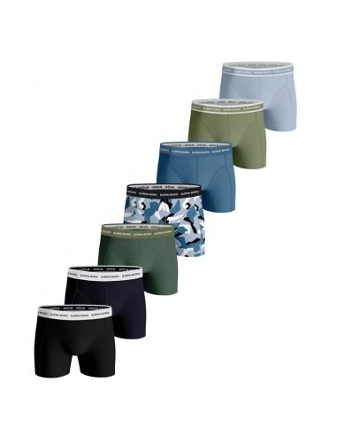 Bjorn Borg Boxershorts 7Pack Sammy Shorts BB NORDIC CAMO Skyway Frosty Spruce8