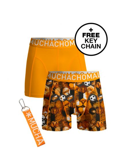 MuchachoMalo 2Pack WorldCup Nederland Jongens Boxershorts incl keychain